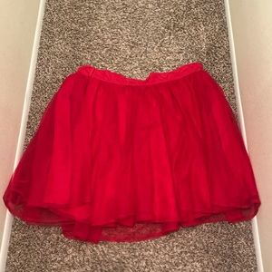 ❤️Red sparkly tutu skirt!❤️ PERFECT FOR HALLOWEEN